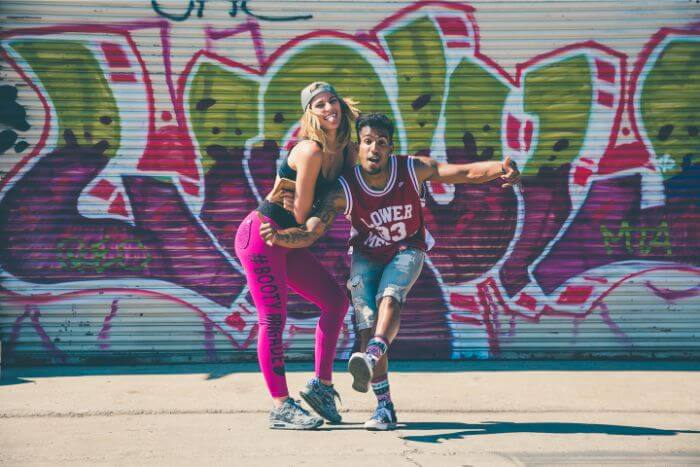 Hilarious hip hop dancer man and woman