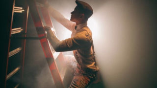 Men are climbing ladder while taking a retrogression
